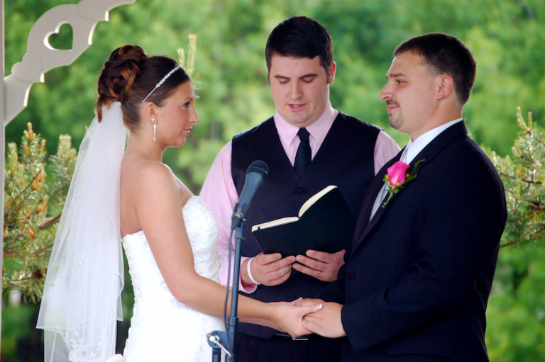 vows at wedding ceremony