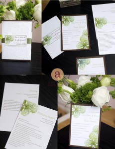 Hydrangea invitations for free wedding contest