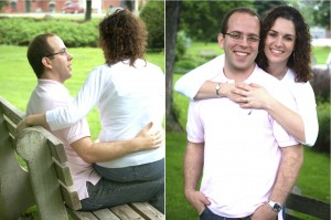 Bangor Maine engagement shoot in the park