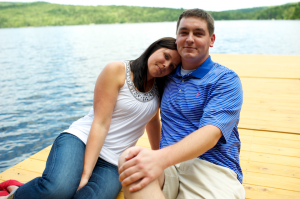Maine engagement session at the lake