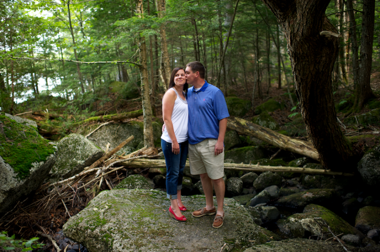 Maine lakefront engagement session
