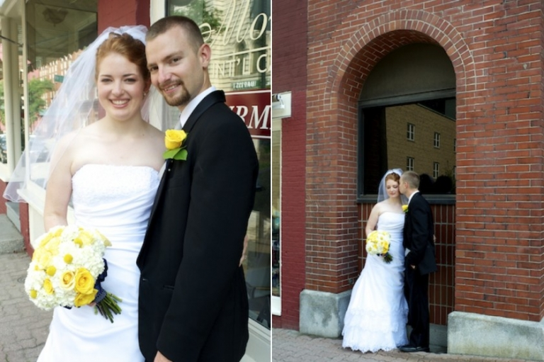 Downtown Bangor Maine wedding portraits