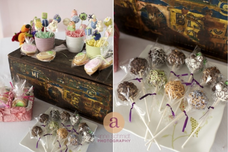 cake pops by Wanda Prouty for Bangor, ME baby shower