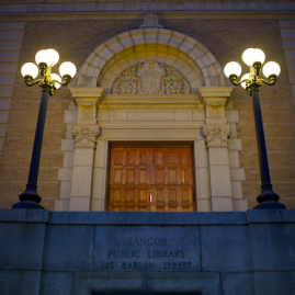 entrance of Bangor Public Library