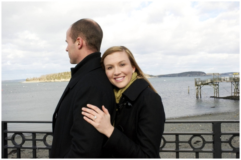 Bar Harbor Maine engagement