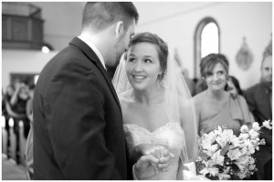 bride sees groom for the first time