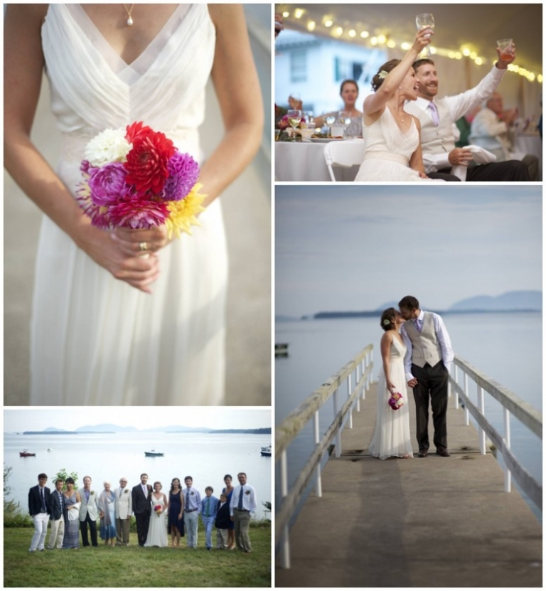 Frenchman's Bay Maine wedding
