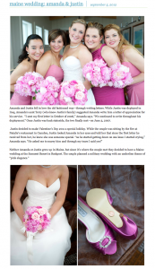 pink military wedding published on Real Maine Weddings blog