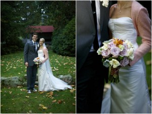 Fall bridal portraits in Maine