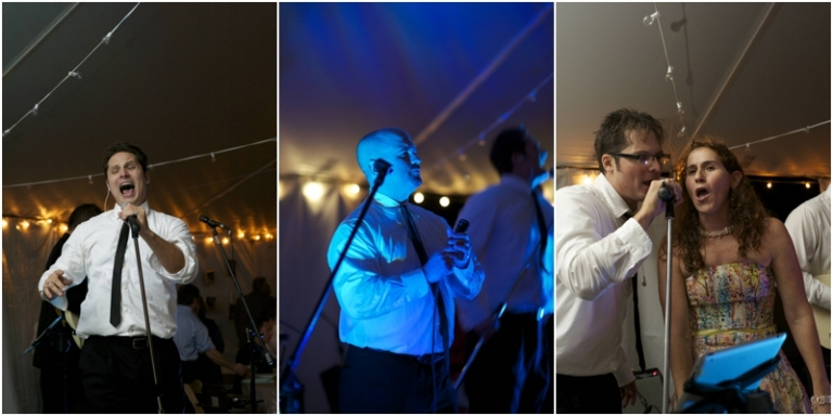 Time Pilots play 80's music at Maine wedding