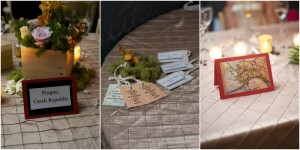 travel themed table signs and escort cards