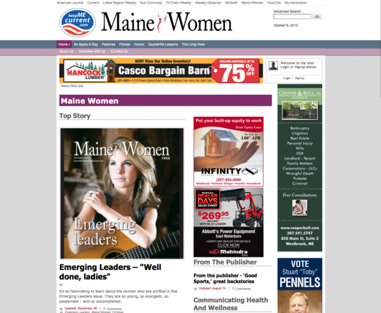 Maine wedding photographer featured in women's magazine