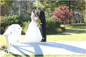 Fall bridal portraits at Pineland Farms