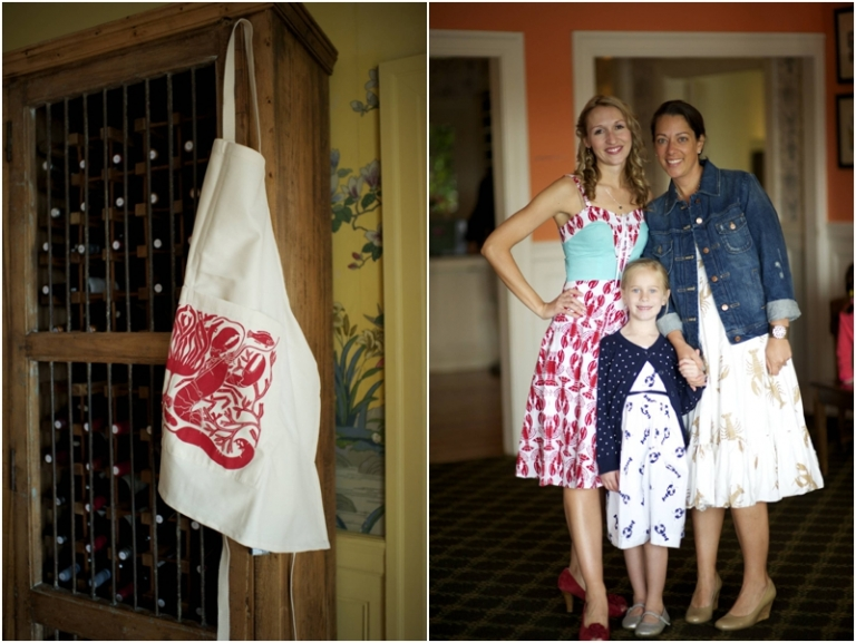 wedding lobster dresses and apron