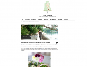 Maine wedding photographer Anne Schmidt had a summer, Maine wedding published on DIY Bride this January.