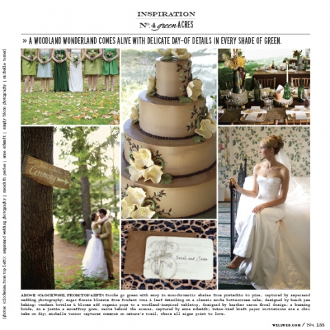 green woods inspiration with a photo from Maine wedding photographer Anne Schmidt