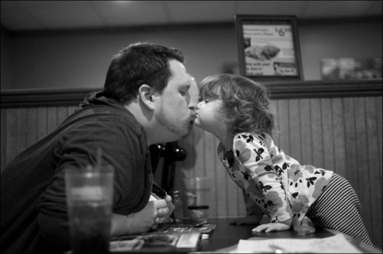 Maine wedding photographers family night out eating pie for Pi Day
