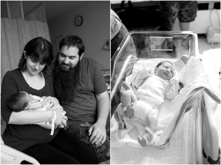 newborn hospital photographer in Bangor Maine