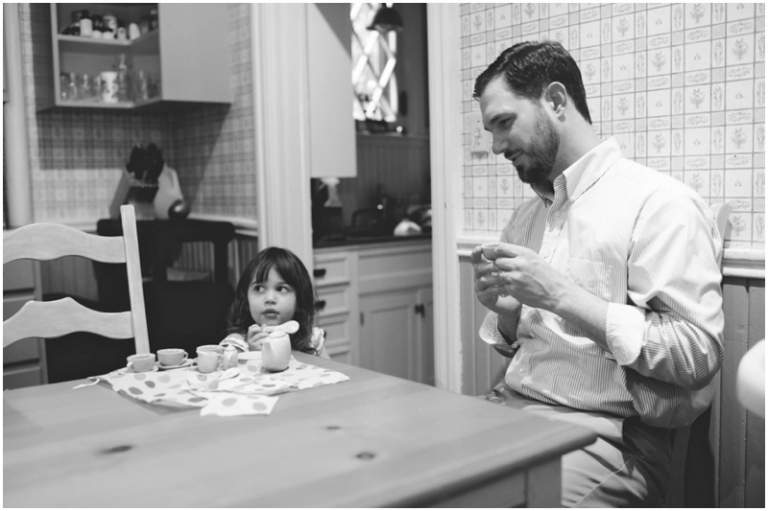 tea party with dad