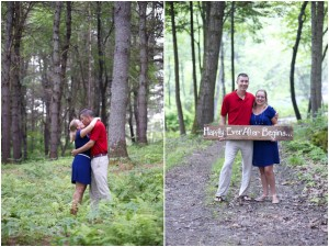 Happily ever after sign in engagement photos