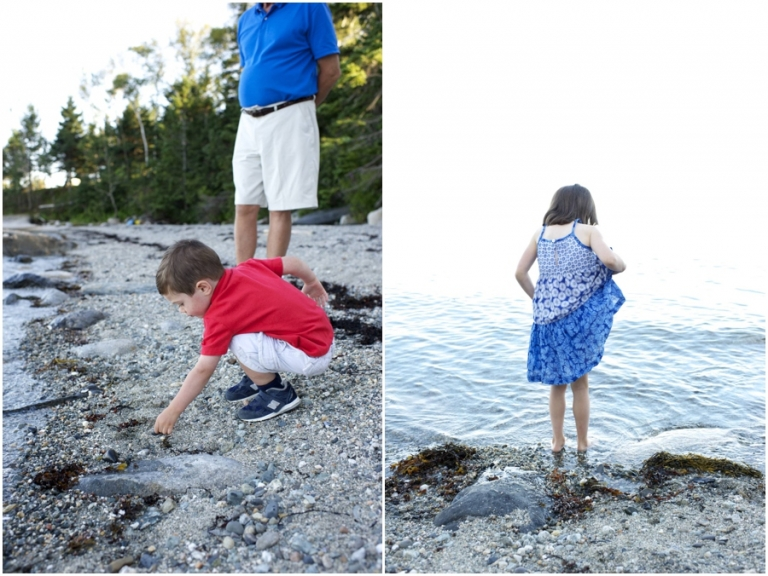 beach family portraits in Maine