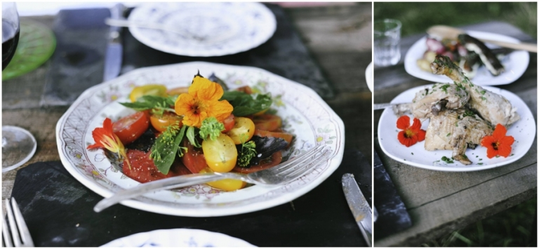 Heirloom tomato salad from The Lost Kitchen