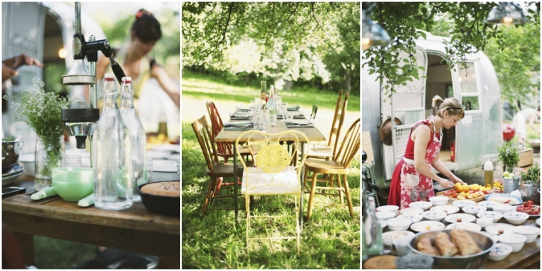 The Lost Kitchen dinner in orchard at Dorolenna Farm