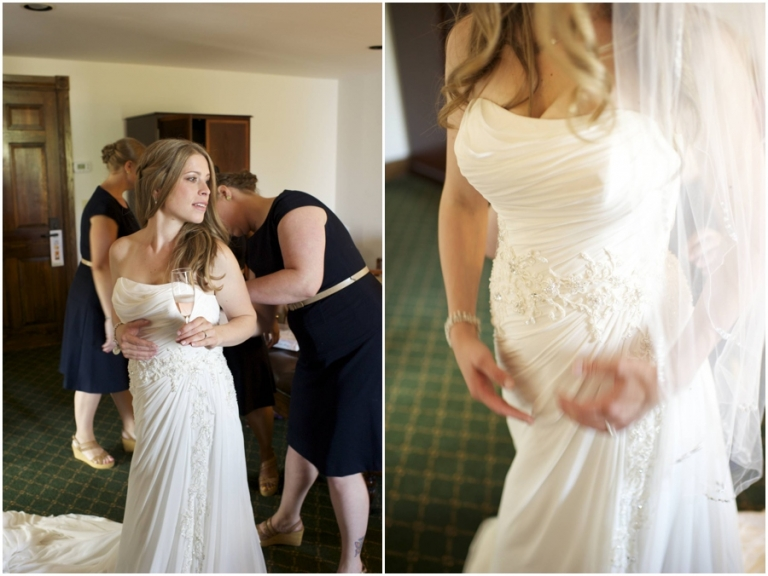 bride getting ready at Bar Harbor Regency wedding