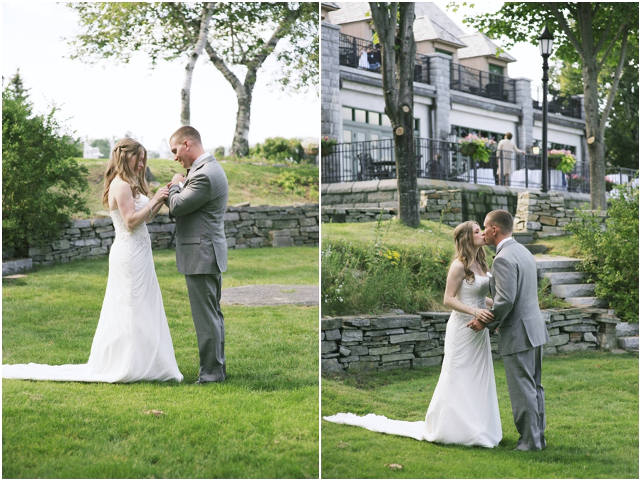 first look at Bar Harbor Regency wedding