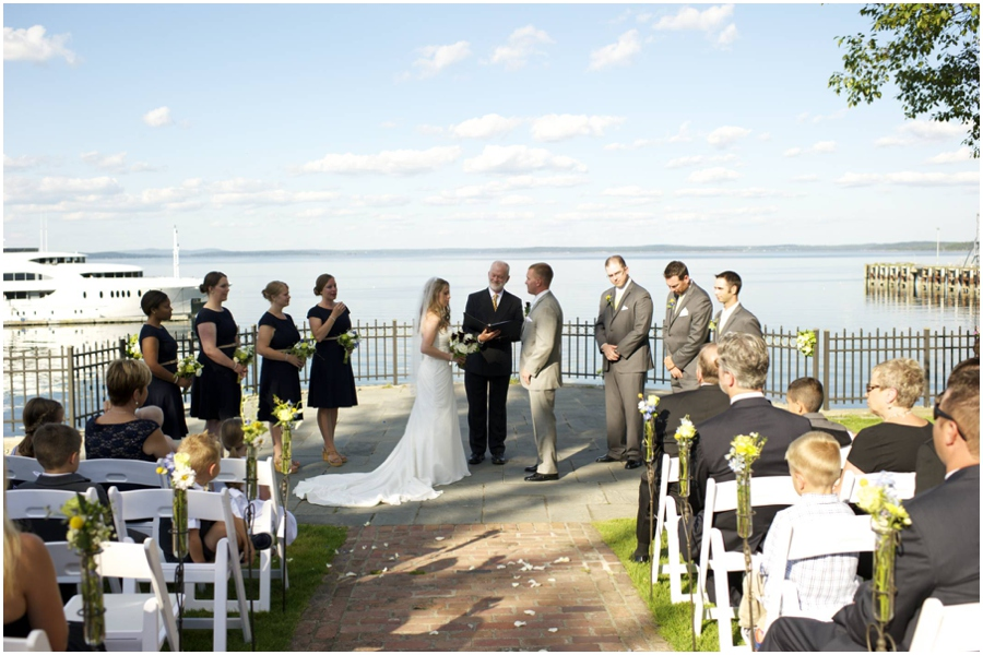 ceremony at Bar Harbor Regency wedding
