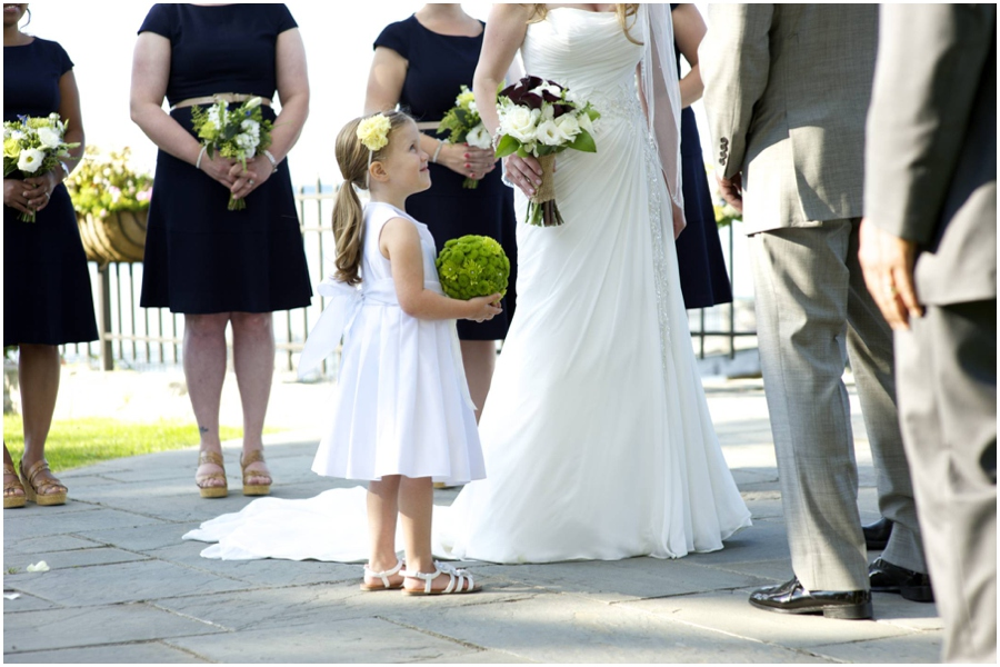 flower girl at Bar Harbor Regency wedding