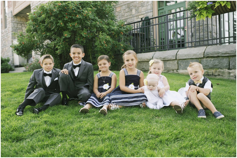 children of wedding party in Bar Harbor Maine
