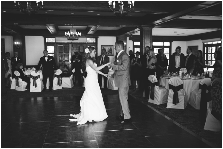bride and groom first dance at Bar Harbor Maine wedding