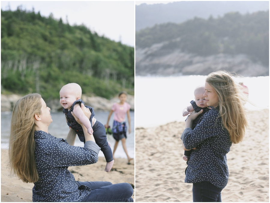 family portraits in Acadia National Park Sand Beach