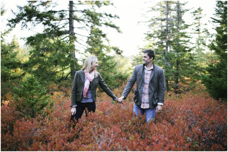 Fall portraits in Acadia National Park