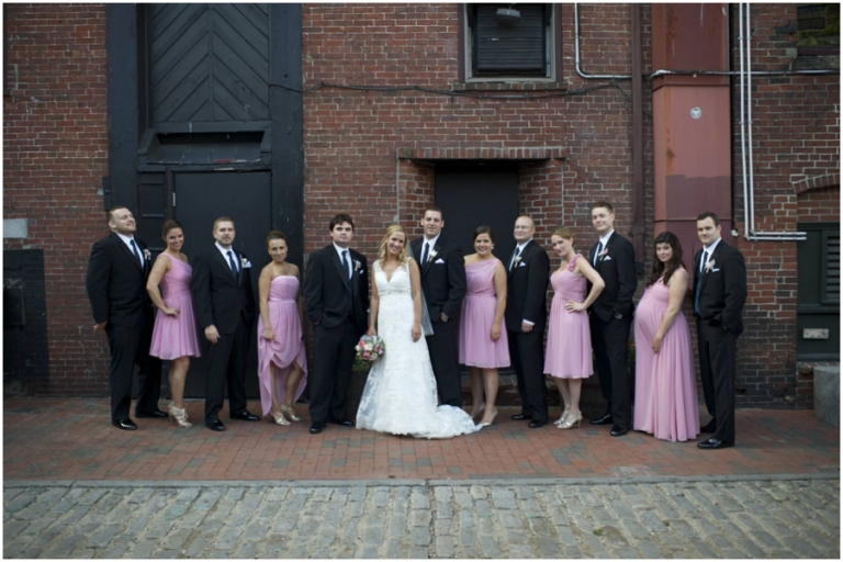 wedding party photography Old Port Portland maine