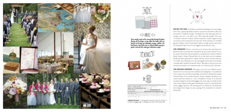 Asticou Inn wedding published in WellWed