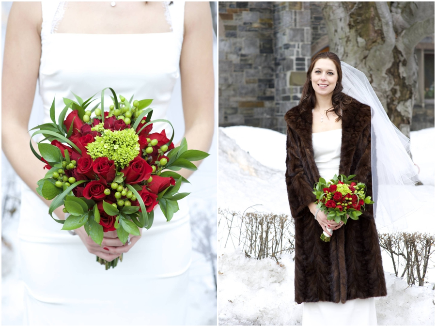 winter wedding in Maine