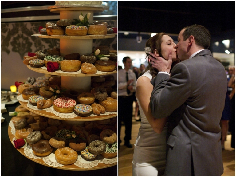 donut tower at wedding