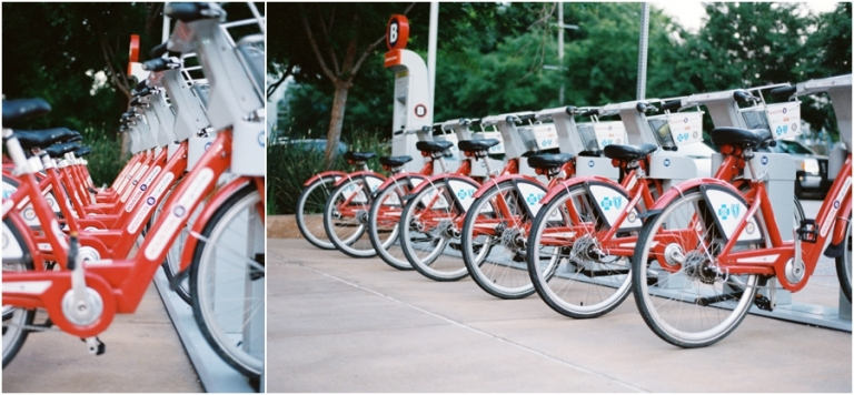 Houston travel photography red bikes