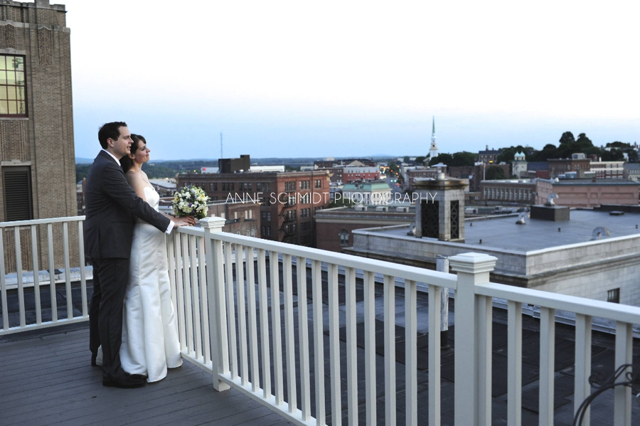 Tarratine Club rooftop wedding Bangor