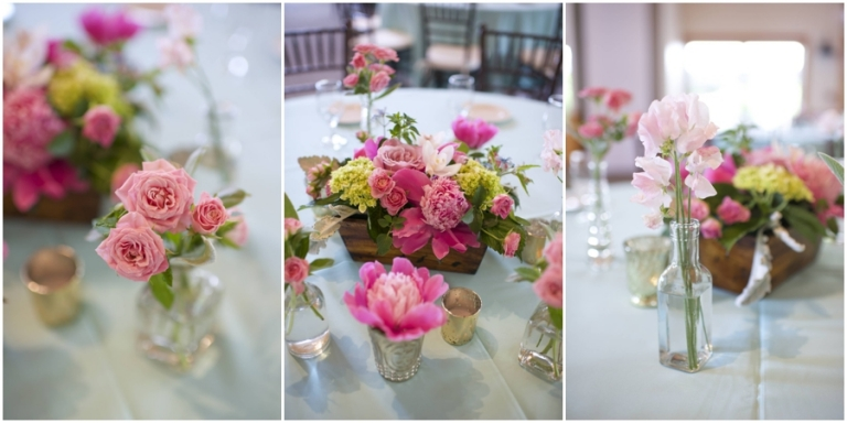 pink peonies at Maine wedding Sprucepoint Inn