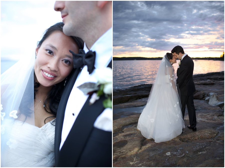 sunset wedding photos at Sprucepoint Inn