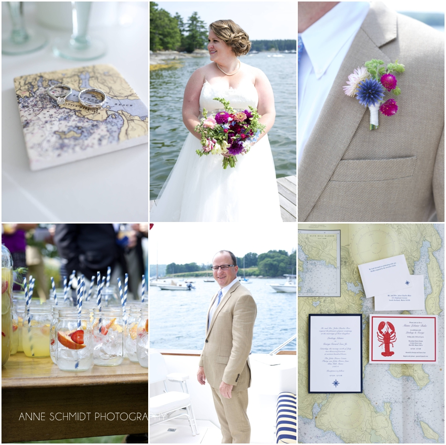 nautical themed Blue Hill Maine wedding