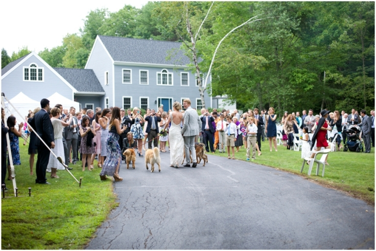 backyard wedding in Maine