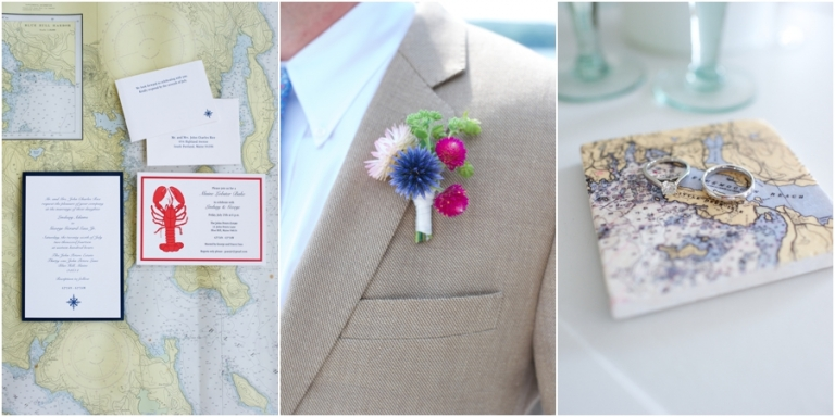 nautical chart themed wedding