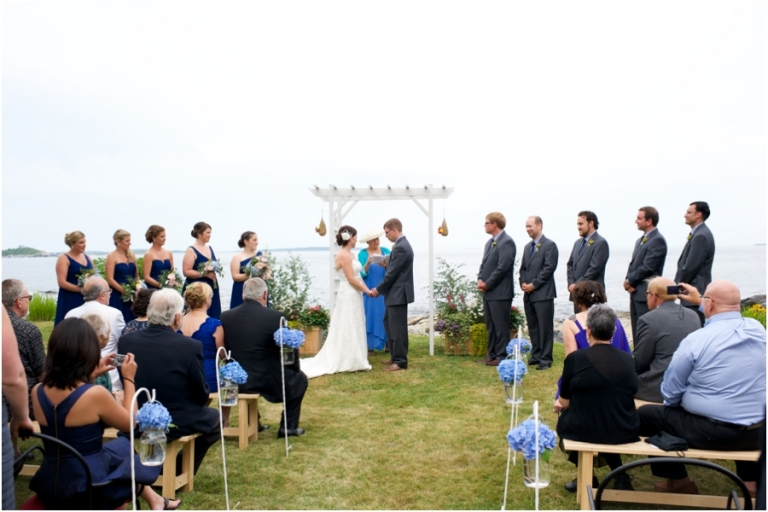 oceanfront wedding in Maine on Peaks Island