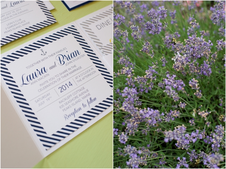 nautical themed wedding invitations in Maine