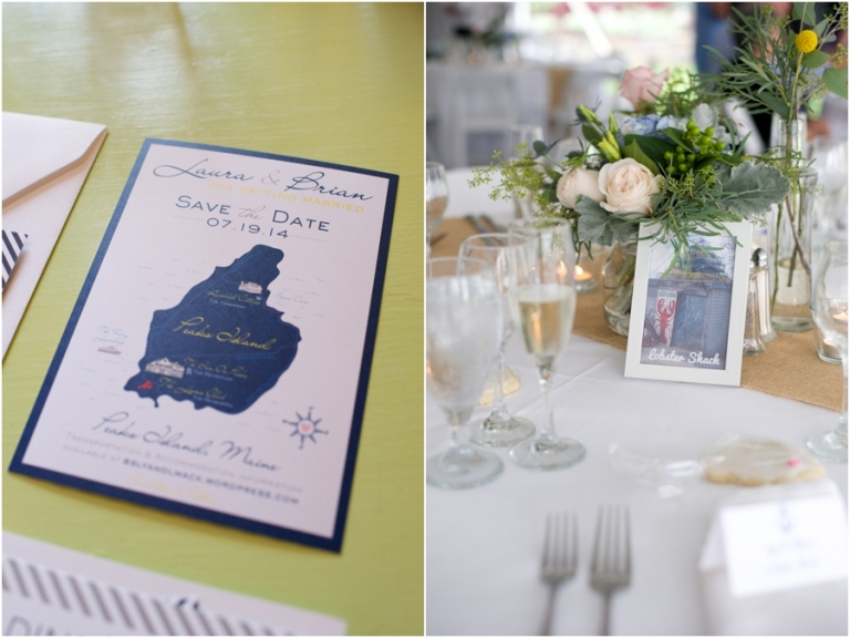blue and pink nautical themed wedding in Maine