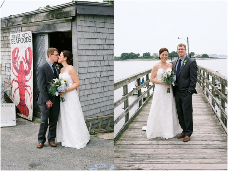 lobster shack Peaks Island wedding